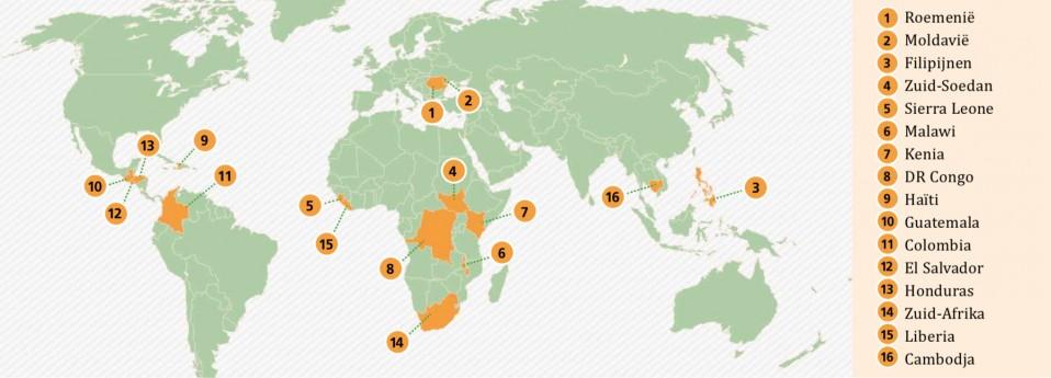 landen waar KKG helpt
